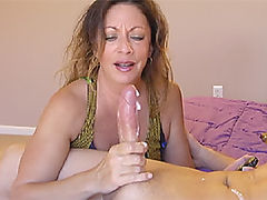 Hot mommy Victoria jerks a massive load out of the neighbor boy in just under two minutes. Nasty dirty talking and slobbering does the trick as milf Victoria takes the challenge for the worlds quickest cumblast!